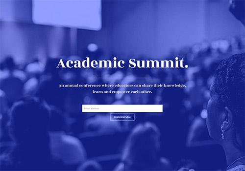 Academic Summit theme