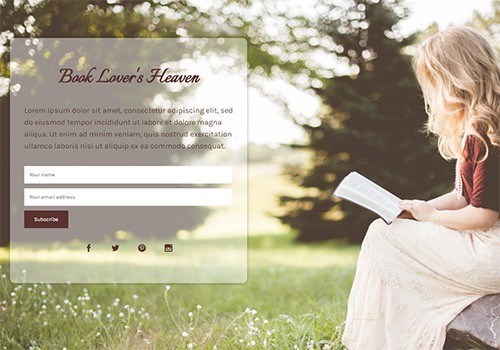 Book Lovers theme