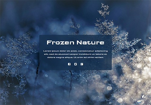 Frozen Nature theme