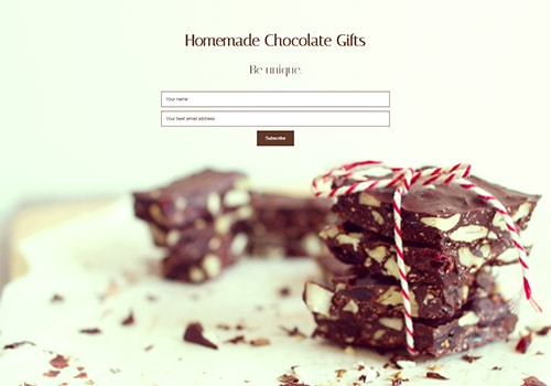 Homemade Chocolate Gifts theme