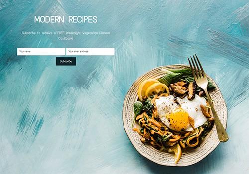 Modern Recipes theme