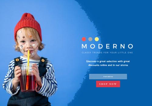 Moderno Kids Shop theme