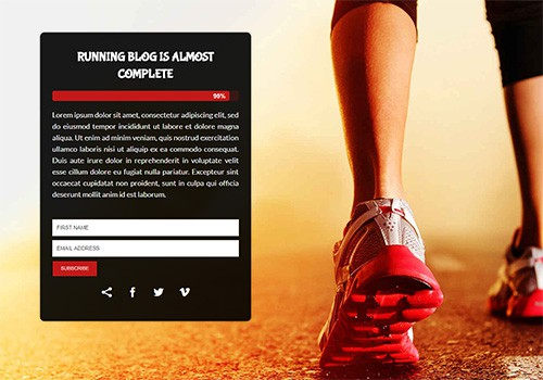 Running Blog theme