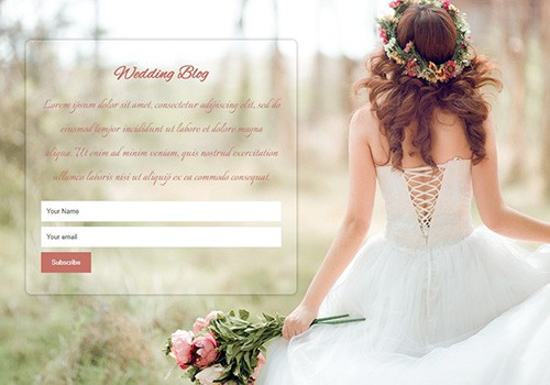 Wedding Blog theme