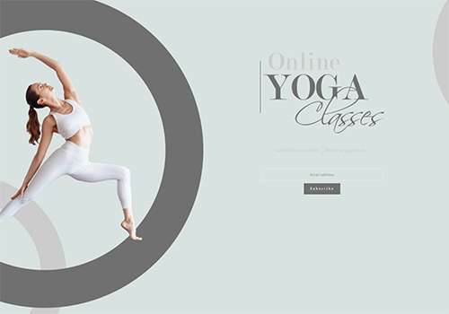 Yoga Classes theme